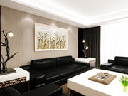 Escena interior realista modelo 3d