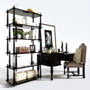 Chaise de table 3d model
