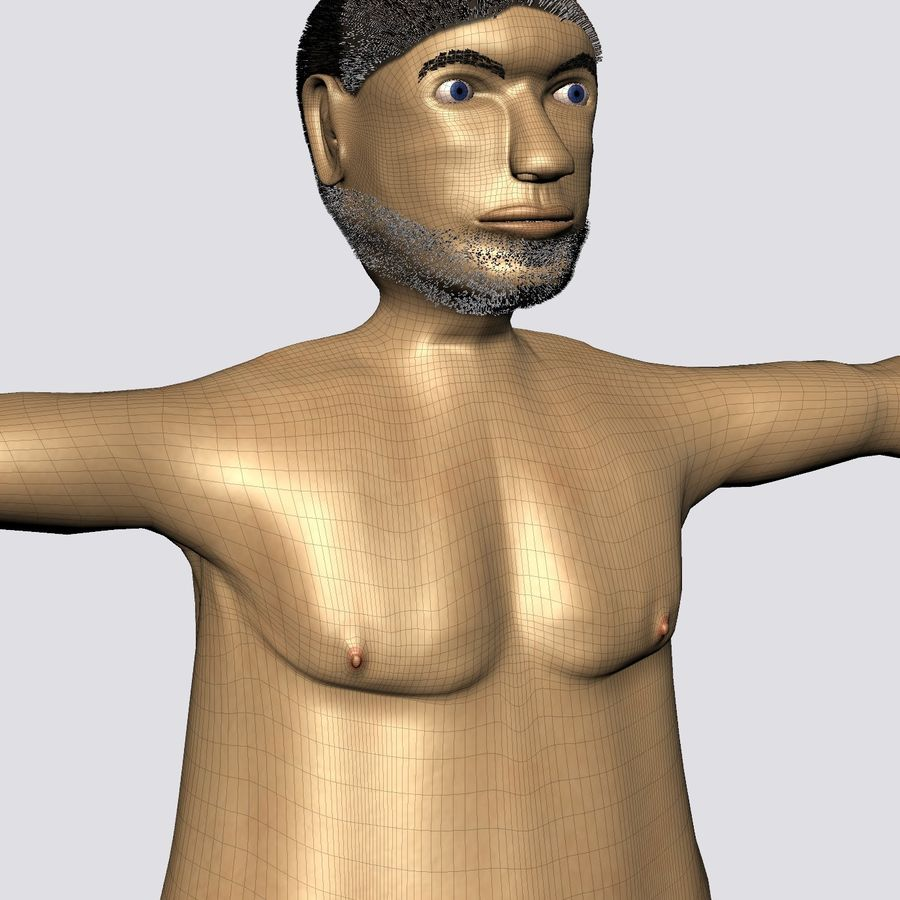 Male Character Average Guy royalty-free 3d model - Preview no. 4