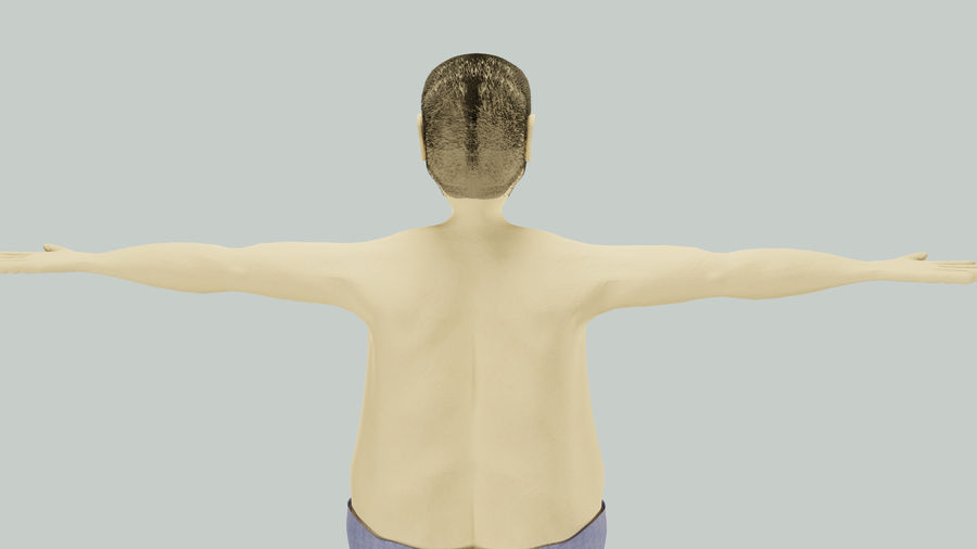 Male Character Average Guy royalty-free 3d model - Preview no. 7