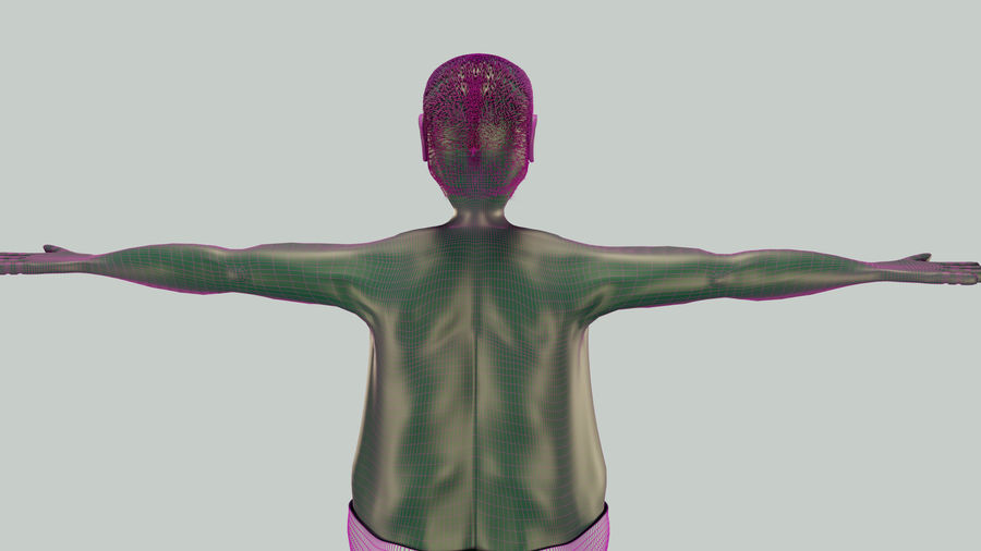 Male Character Average Guy royalty-free 3d model - Preview no. 8