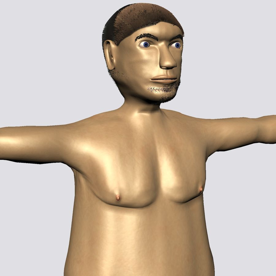 Male Character Average Guy royalty-free 3d model - Preview no. 3
