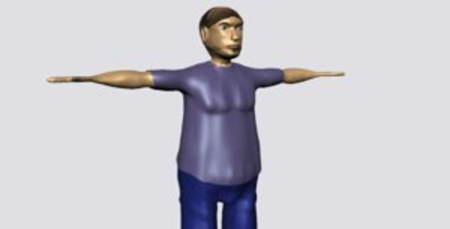 Male Character Average Guy royalty-free 3d model - Preview no. 1
