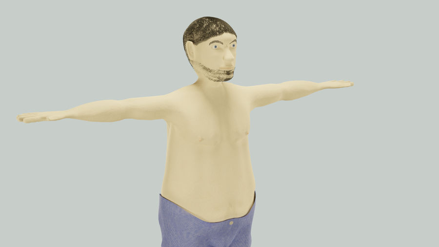Male Character Average Guy royalty-free 3d model - Preview no. 5