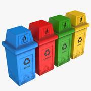 Papeleras de reciclaje con capucha modelo 3d