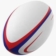 Pallone da rugby generico 3d model