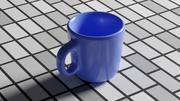 Tasse à café bleue 3d model