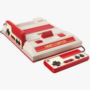 Console Super Nintendo con joystick 3d model