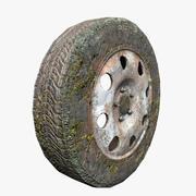 old vehicle wheel 3d model