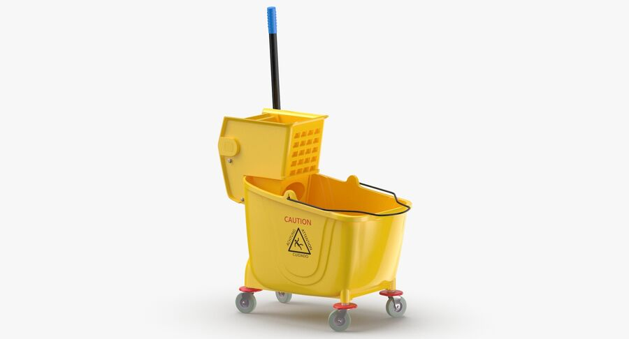 Janitor Bucket royalty-free 3d model - Preview no. 3