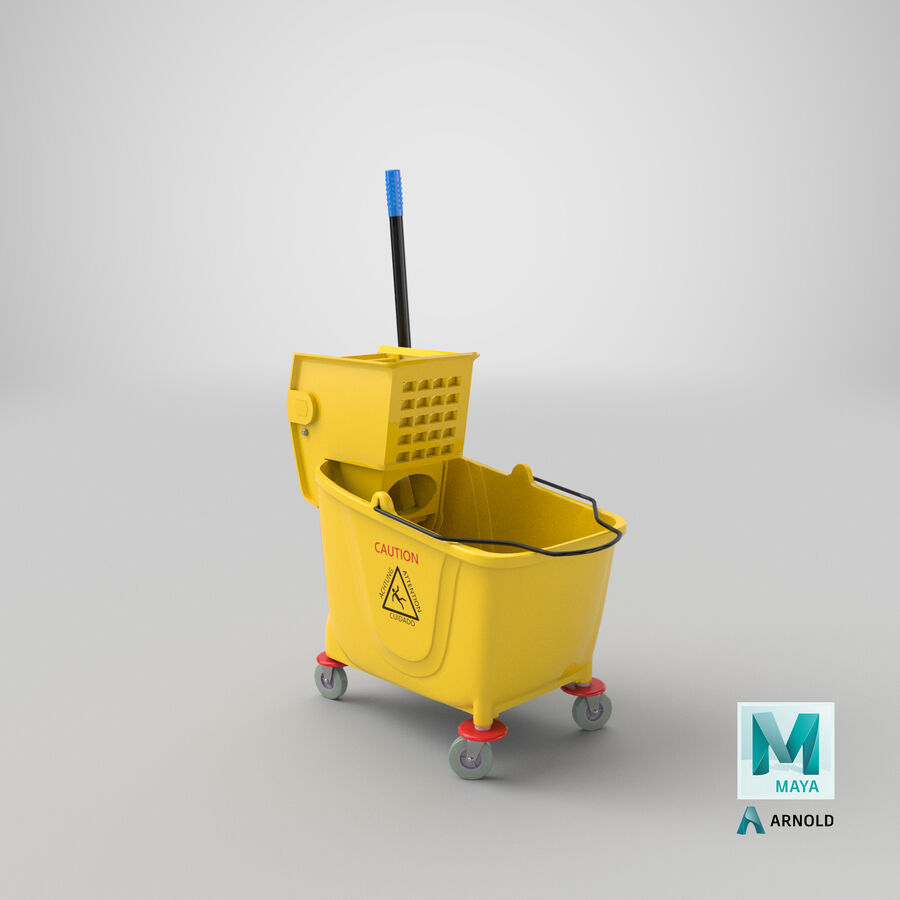 Janitor Bucket royalty-free 3d model - Preview no. 26
