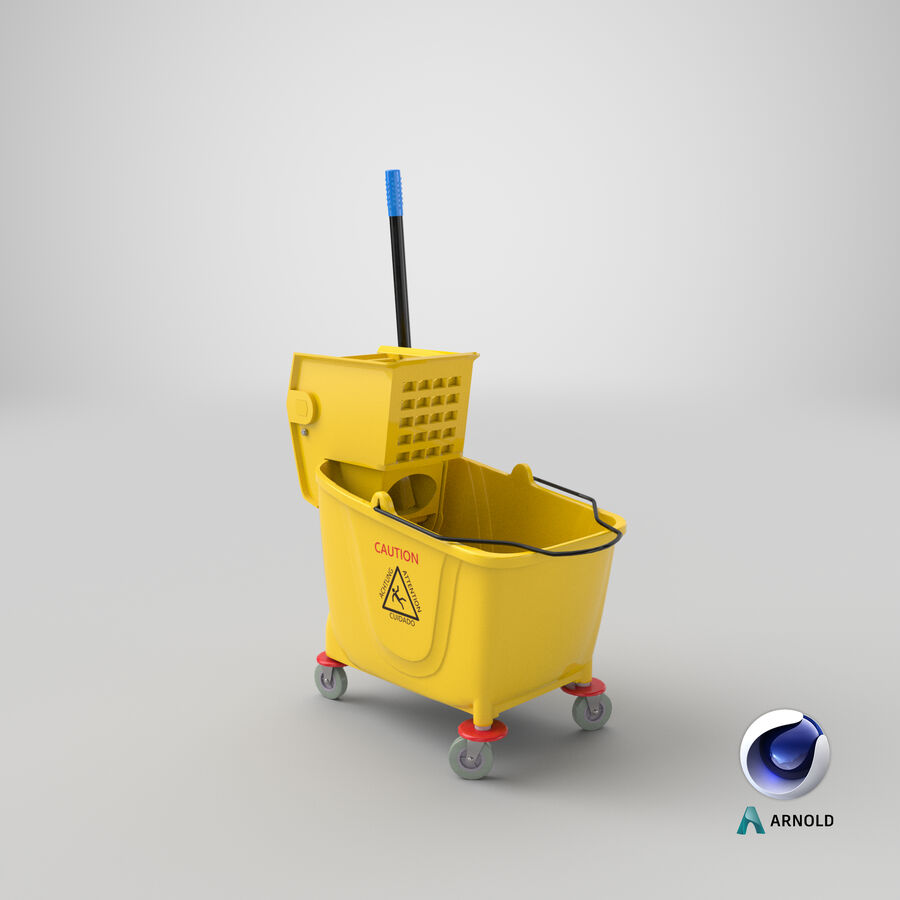 Janitor Bucket royalty-free 3d model - Preview no. 22