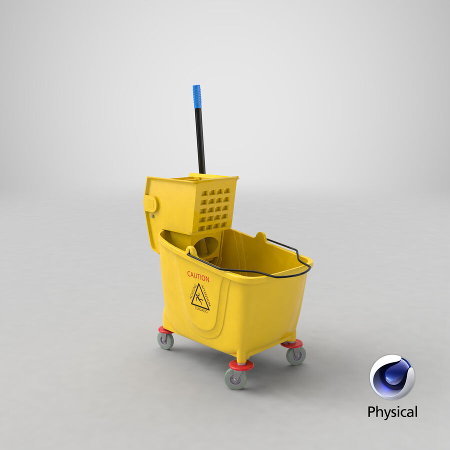 Janitor Bucket royalty-free 3d model - Preview no. 21