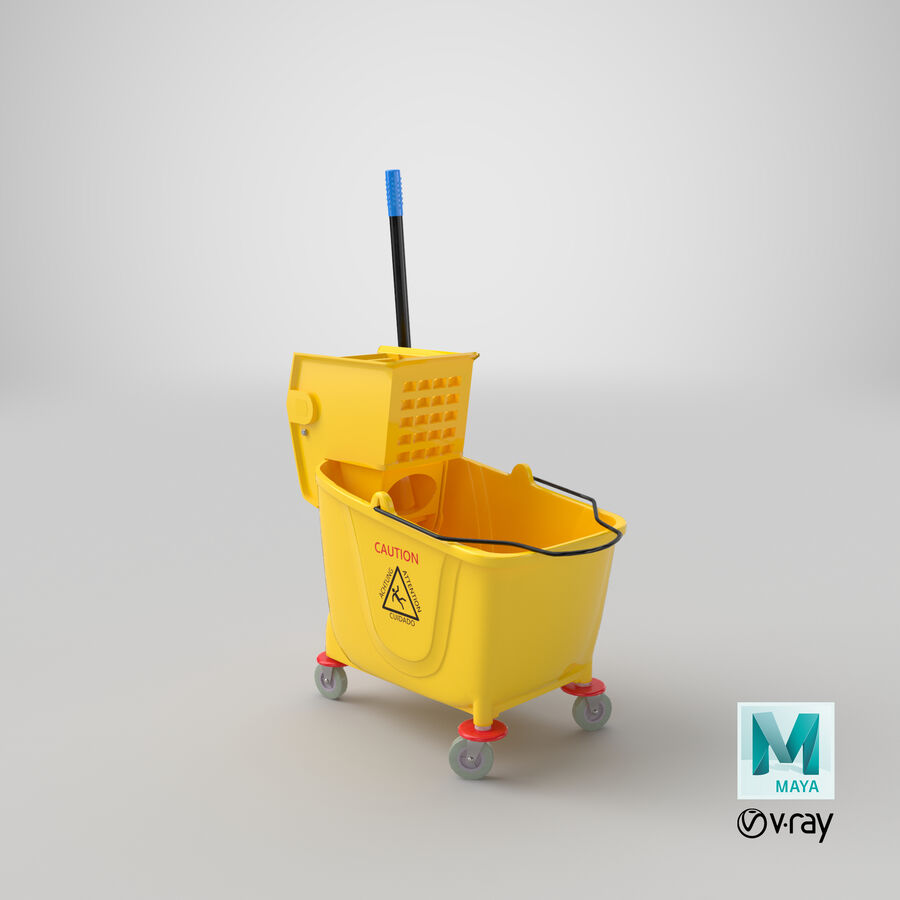 Janitor Bucket royalty-free 3d model - Preview no. 28