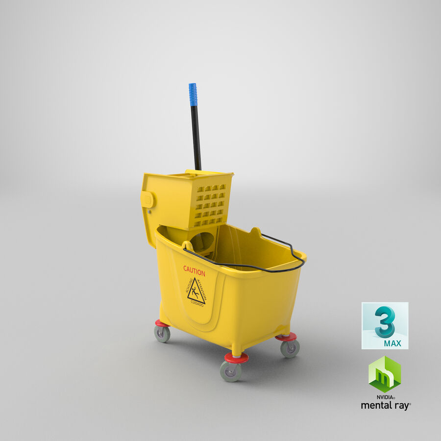 Janitor Bucket royalty-free 3d model - Preview no. 24