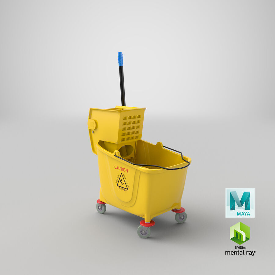 Janitor Bucket royalty-free 3d model - Preview no. 27