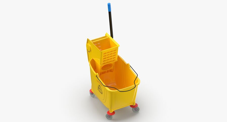 Janitor Bucket royalty-free 3d model - Preview no. 7