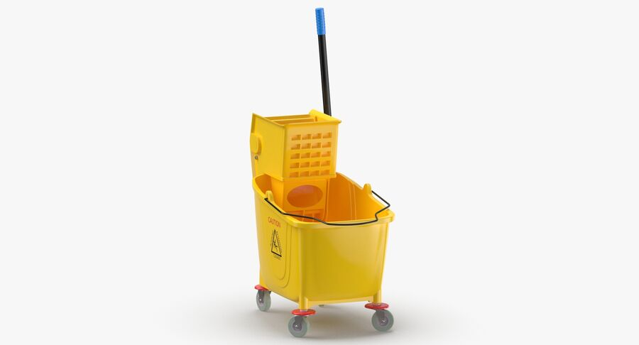 Janitor Bucket royalty-free 3d model - Preview no. 5