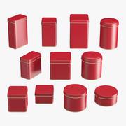 Behållare Burkar Set 3d model