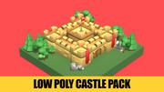 低聚城堡包 3d model