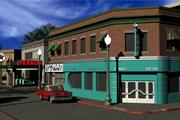 Hill Valley Lous Diner & Roys Records 3d model