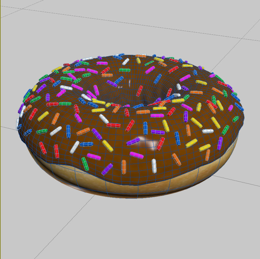 Chocolate Donut 3D Model royalty-free 3d model - Preview no. 5