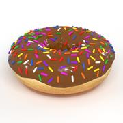 Chocolate Donut 3D Model 3d model