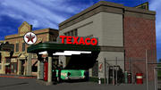 Hill Valley  Texaco Gas Station 3d model