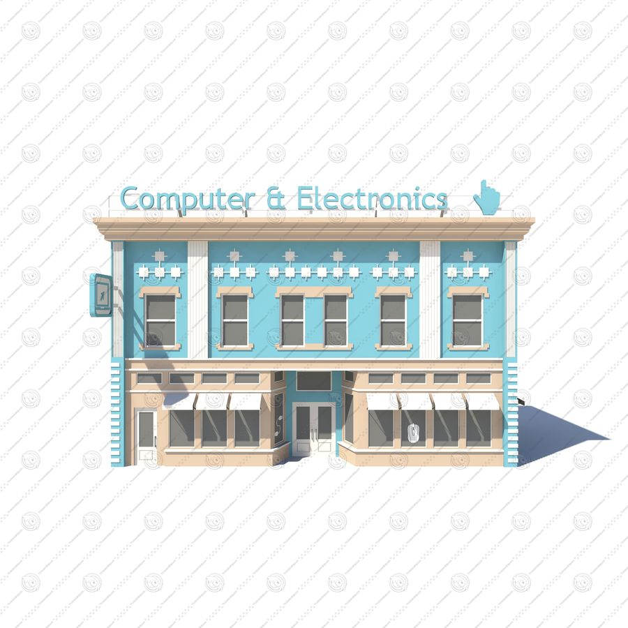 Computer & Electronics 01 royalty-free 3d model - Preview no. 2