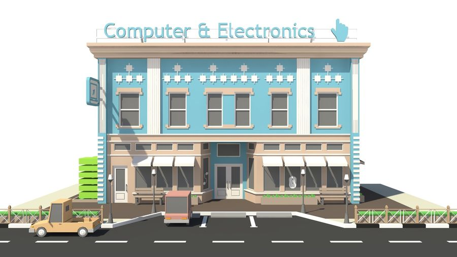 Computer & Electronics 01 royalty-free 3d model - Preview no. 8