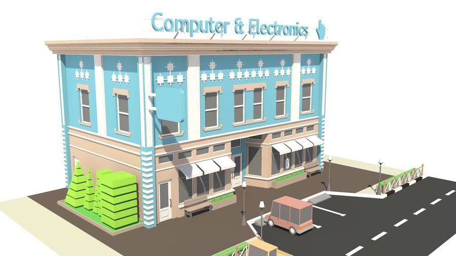 Computer & Electronics 01 royalty-free 3d model - Preview no. 9