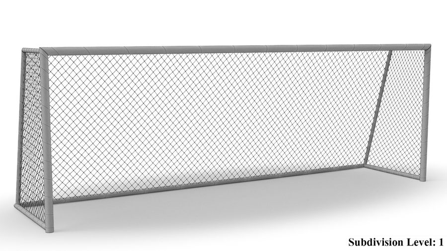 Soccer Goal royalty-free 3d model - Preview no. 9