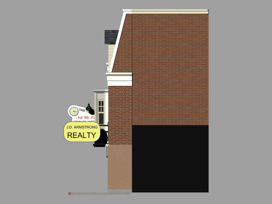 Hill Valley Ask Mr. Foster Travel Agent & J.D. Armstrong Realty royalty-free 3d model - Preview no. 9