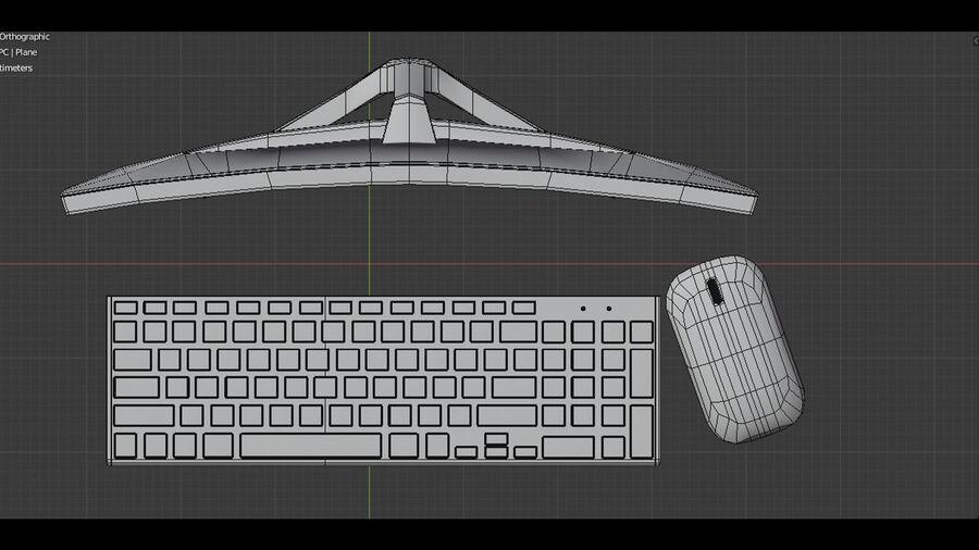 COMPUTER DESKTOP royalty-free 3d model - Preview no. 6
