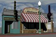 Hill Valley - Zalez Diamonds, Hill Valley Stationers & Elite Barbers 3d model