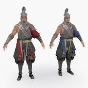 Personnage de la Chine médiévale 014 3d model