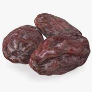 Dried Date Fruits Set 3d model