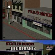 Hill Valley  Ruths Frock Shop & Statler Motors 3d model