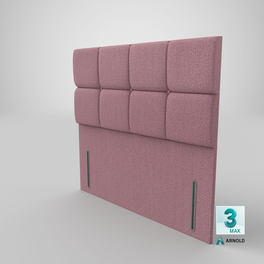 Headboard 03 Blush royalty-free 3d model - Preview no. 24