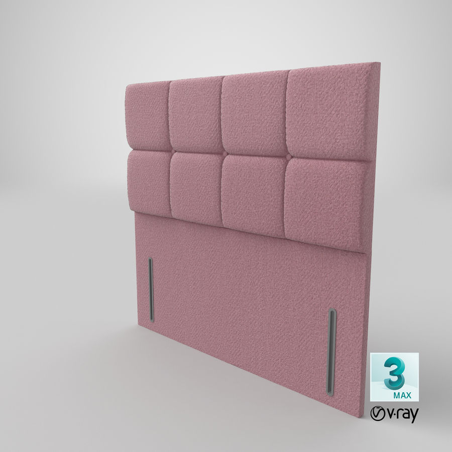 Headboard 03 Blush royalty-free 3d model - Preview no. 26