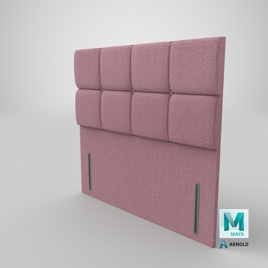 Headboard 03 Blush royalty-free 3d model - Preview no. 27
