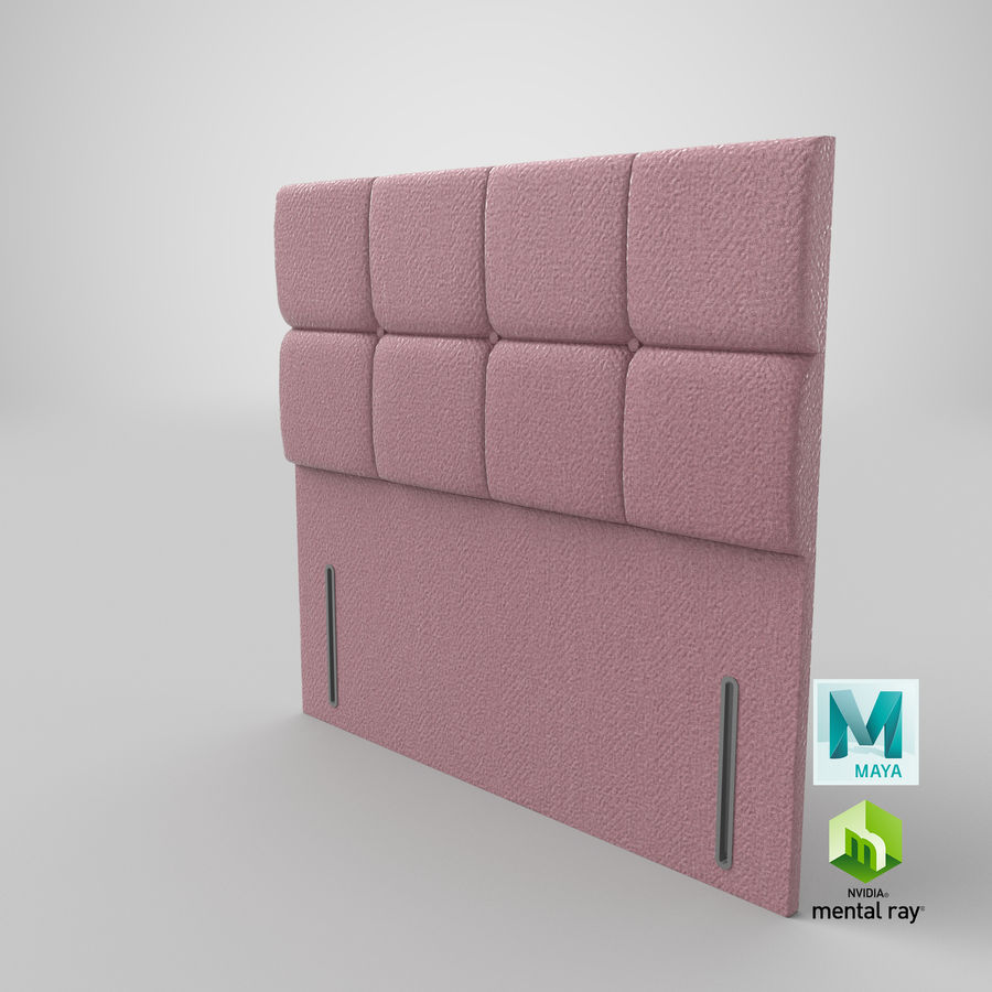 Headboard 03 Blush royalty-free 3d model - Preview no. 28