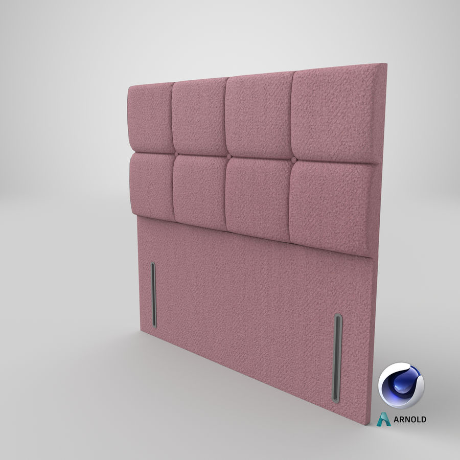 Headboard 03 Blush royalty-free 3d model - Preview no. 23