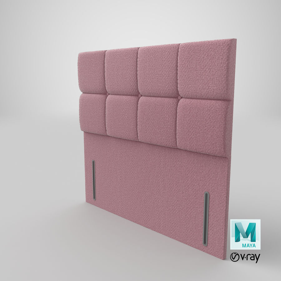 Headboard 03 Blush royalty-free 3d model - Preview no. 29