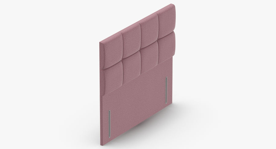 Headboard 03 Blush royalty-free 3d model - Preview no. 7