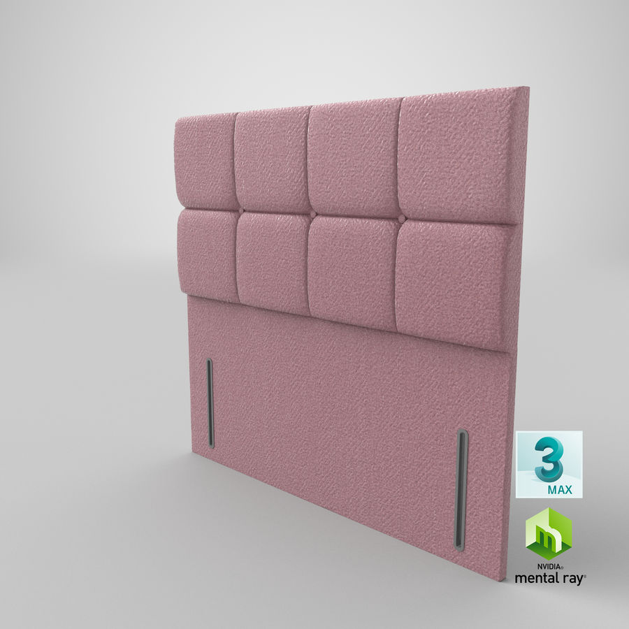 Headboard 03 Blush royalty-free 3d model - Preview no. 25