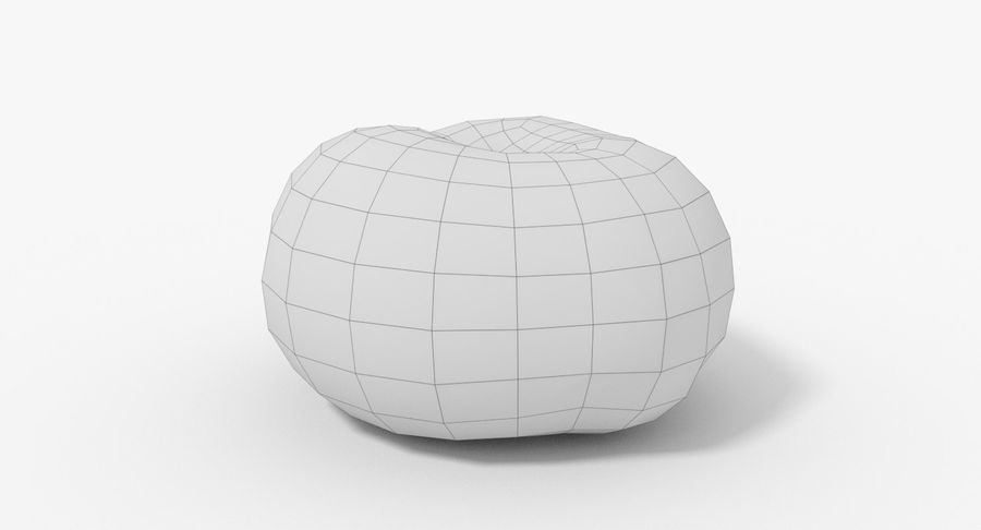 Peach 02 Lowpoly royalty-free 3d model - Preview no. 12