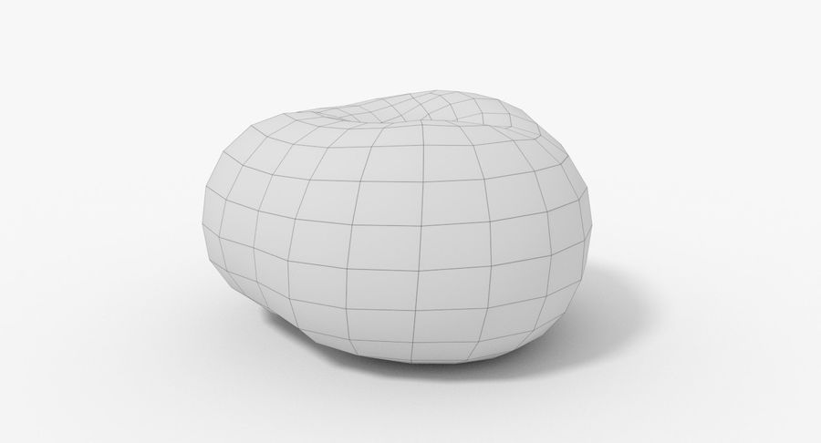 Peach 02 Lowpoly royalty-free 3d model - Preview no. 15
