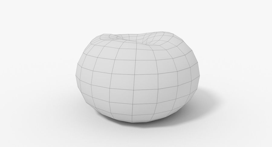 Peach 02 Lowpoly royalty-free 3d model - Preview no. 16