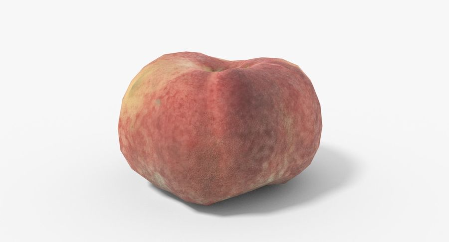 Peach 02 Lowpoly royalty-free 3d model - Preview no. 3